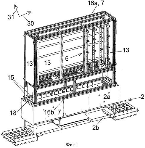 Распределительный шкаф с множеством внутренних корпусов