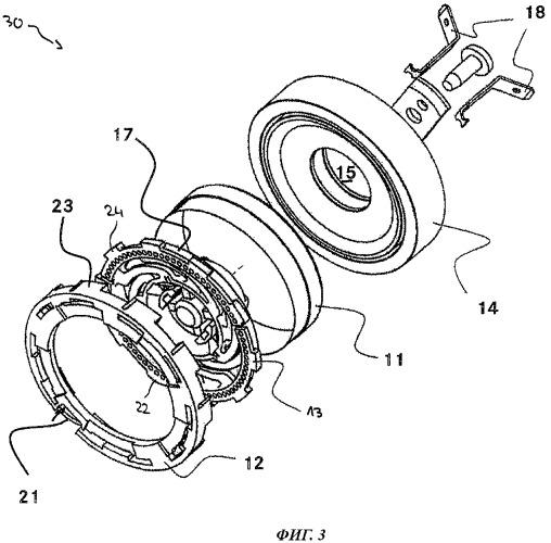Осциллятор для плоского громкоговорителя, плоский громкоговоритель и транспортное средство, оснащенное таким громкоговорителем