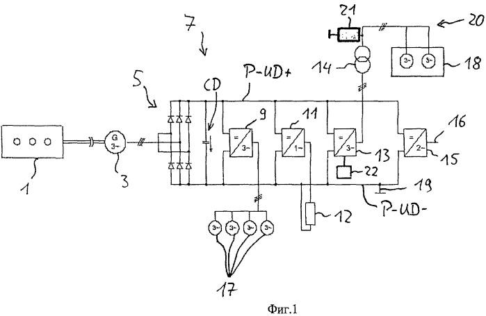 Обеспечение вспомогательных приводов рельсового транспортного средства электрической энергией