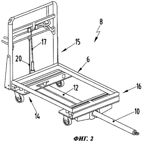 Тележка для комплектования для транспортирования комплектуемых изделий