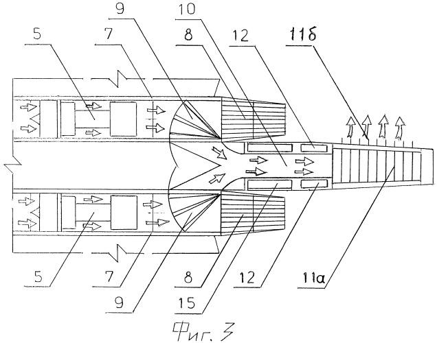 Маневренный самолет с газодинамической системой управления