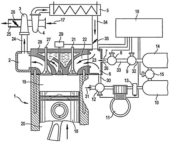 Способ и устройство для повышения тормозной мощности поршневого двигателя внутреннего сгорания автомобиля, в частности дизельного двигателя