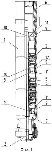 Погружной многоступенчатый модульный центробежный насос