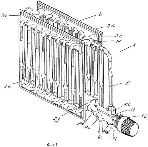Предвключаемый комплект для радиатора