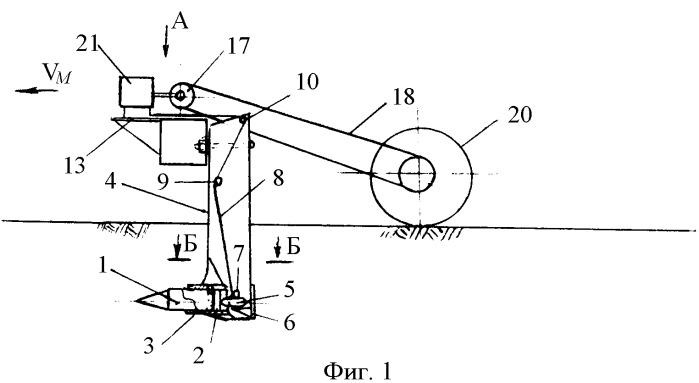 Устройство для контактного измерения продольного сопротивления почвы