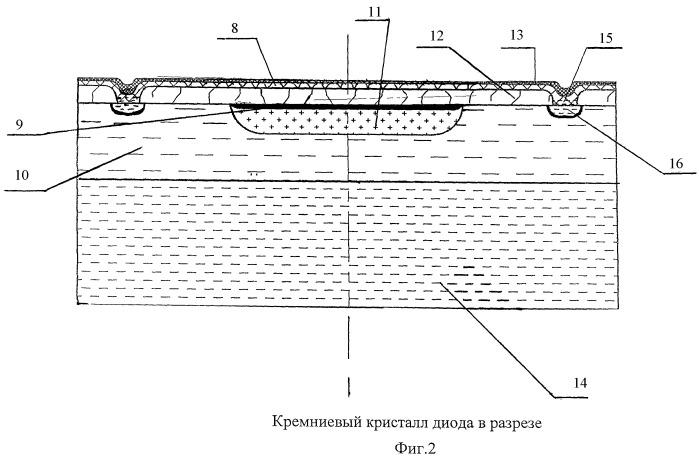 Блокирующий диод для солнечных батарей космических аппаратов