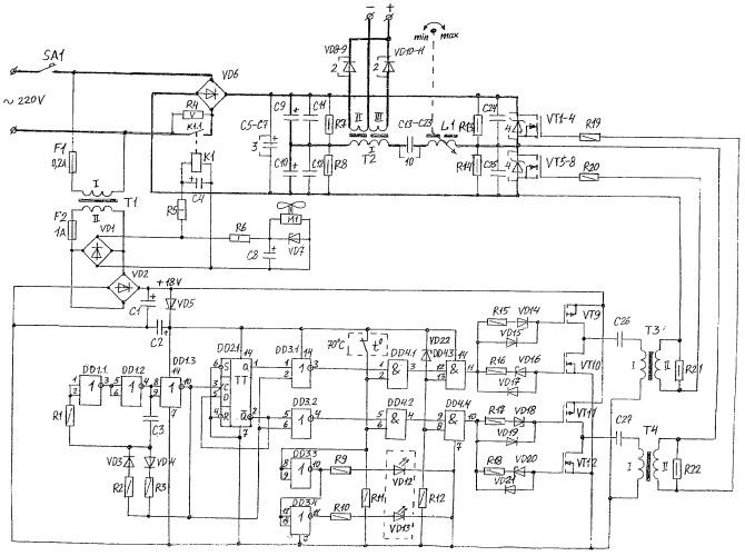 Полумостовой транзисторный инвертор