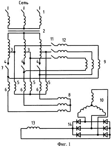 Блок трансформатор-бесконтактный синхронный двигатель