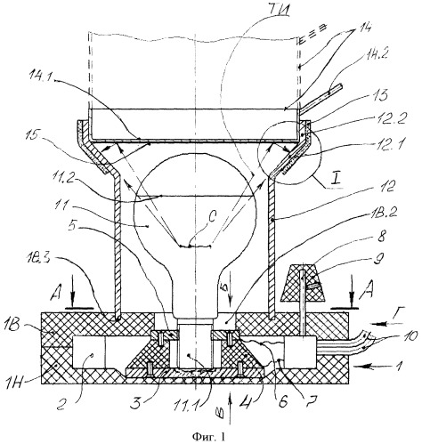 Способ нагрева снизу снаружи тонкостенной цилиндрической емкости, установленной вертикально