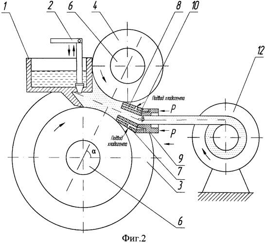 Устройство для непрерывного литья, прокатки и прессования цветных металлов и сплавов