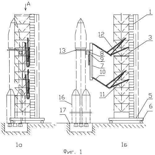 Способ предстартовой подготовки и пуска многоблочных ракет космического назначения, составленных из универсальных ракетных модулей, и устройство для его осуществления