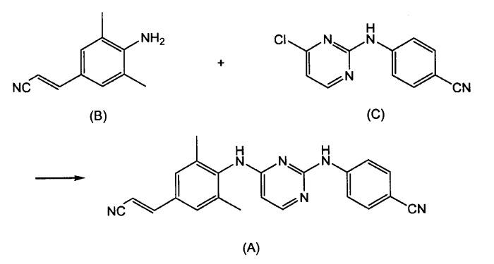 Способ получения 4-(1,6-дигидро-6-оксо-2-пиримидинил)амино-бензонитрила