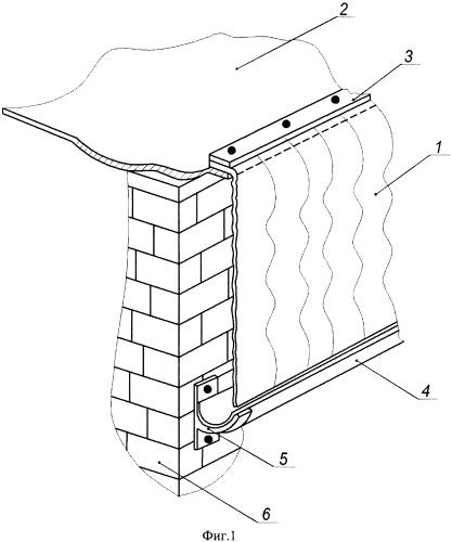 Устройство для предохранения от падения сосулек с наружной кромки кровли крыши