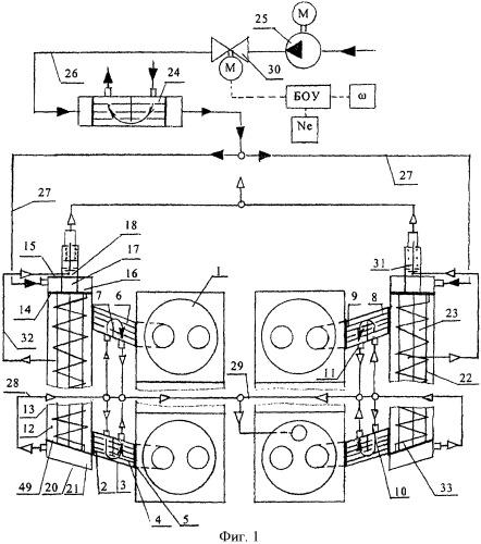 Устройство парогенератора комбинированного поршневого двигателя внутреннего сгорания (варианты)