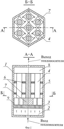 Способ работы тепловыделяющей сборки на входном участке и устройство для его осуществления