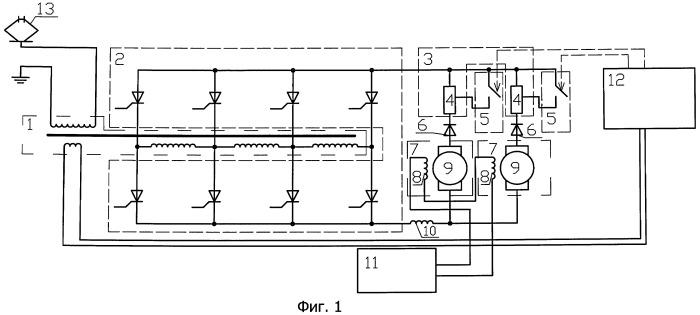 Способ повышения коэффициента мощности при рекуперативном торможении электровоза и устройство для его реализации