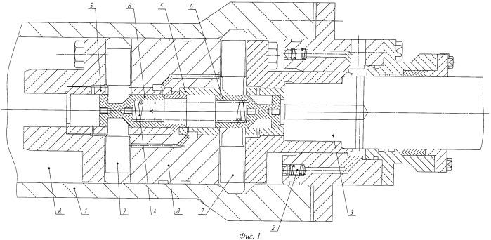 Гидроцилиндр с механическим затвором в крайних положениях поршня