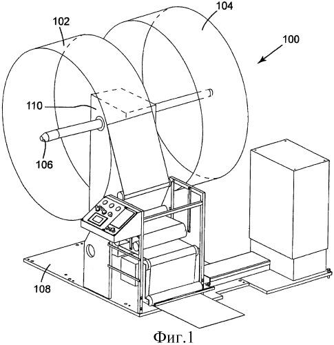 Малогабаритное устройство для безостановочной размотки рулонов ленточного материала