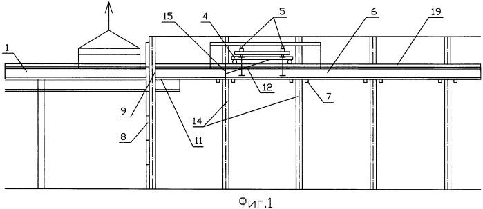 Способ надвижки новых подкрановых балок взамен старых с минимальными помехами основному производственному процессу