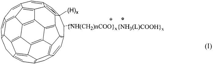 Гомо- и гетеро-полиаминокислотные производные фуллерена c60, способ их получения и фармацевтические композиции на их основе