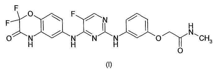 Ксинафоатная соль n4-[(2,2-дифтор-4н-бензо[1,4]оксазин-3-он)-6-ил]-5-фтор-n2-[3-(метиламинокарбонилметиленокси)фенил]-2,4-пиримидиндиамина
