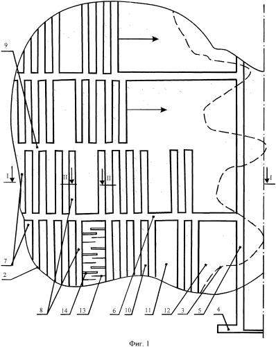 Способ разработки участка пологого и наклонного удароопасного пласта
