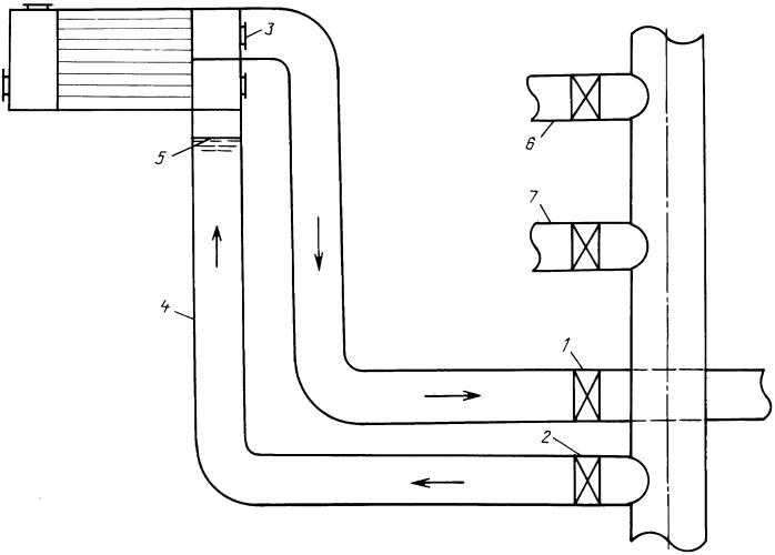 Способ промывки конденсатора кратковременным обратным потоком воды