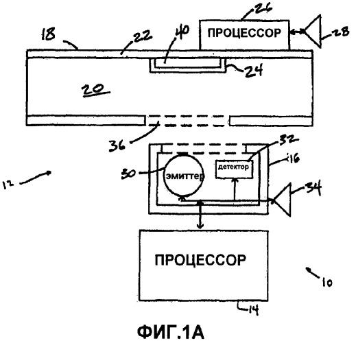 Сенсор, который вводит поправку на деградацию люминесцирующей среды