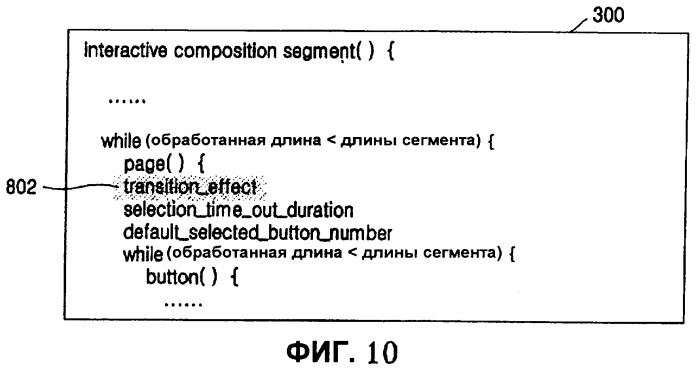 Запоминающий носитель, содержащий поток интерактивной графики, и устройство для его воспроизведения