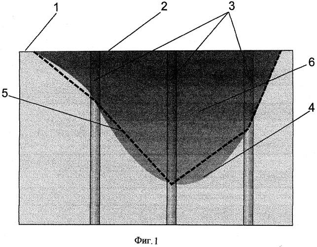 Способ определения объема радиоактивного грунта