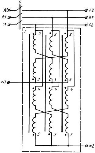 Трехфазное фильтросимметрирующее устройство
