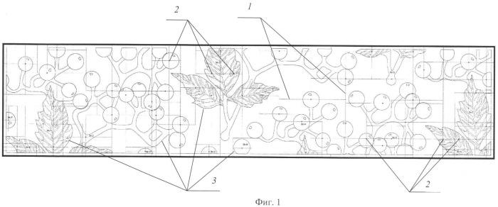 Способ формирования декоративной объемной композиции на плоской поверхности
