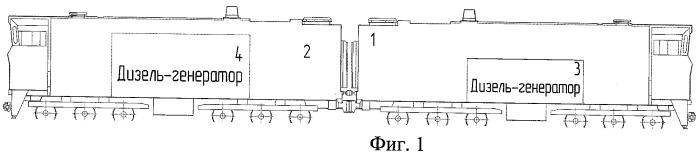 Способ работы двухсекционного тепловоза с энергетической установкой и двухсекционный тепловоз с энергетической установкой