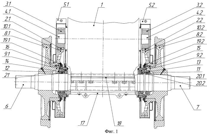 Колесно-моторный блок локомотива
