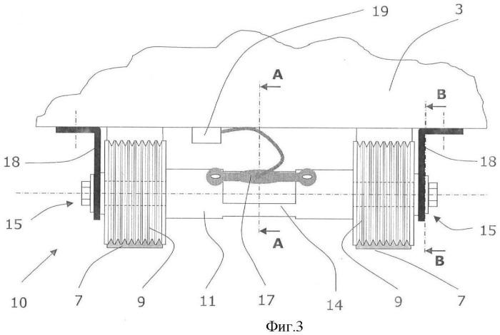 Подъемник с кабиной, блок направляющих шкивов для подъемника и способ размещения в подъемнике датчика для взвешивания груза