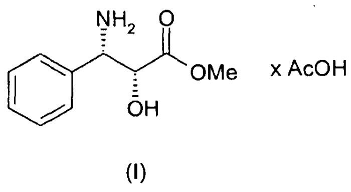 Способ получения ацетатной соли метилового сложного эфира (2r,3s)-3-фенилизосерина
