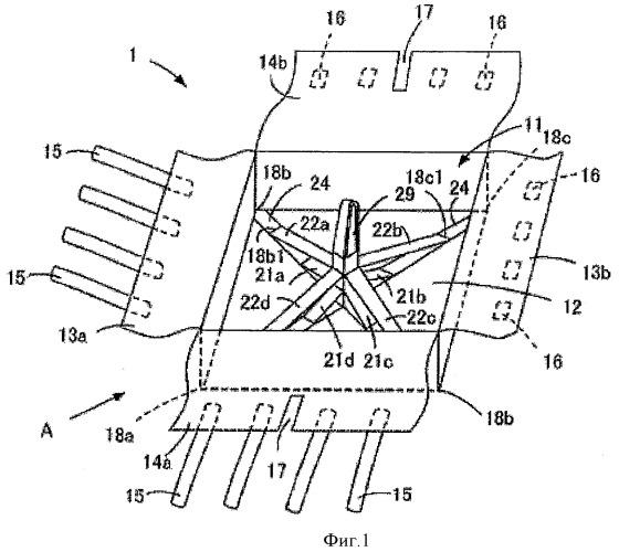 Мешок, сохраняющий при подъеме форму прямого параллелепипеда
