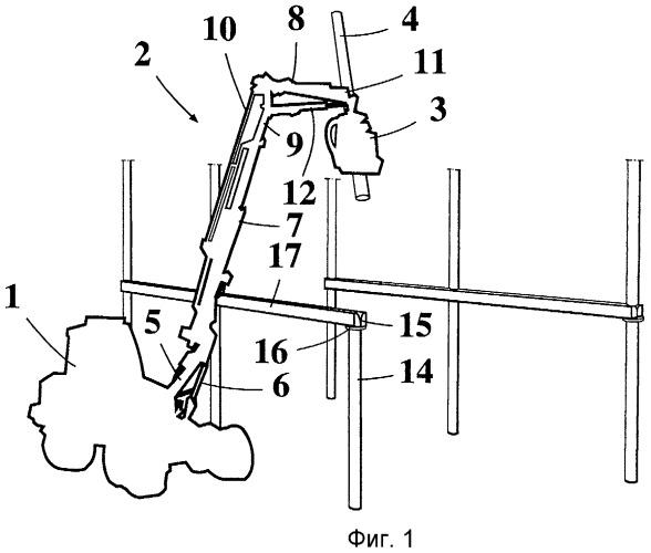 Способ и устройство для подъема стального каркаса