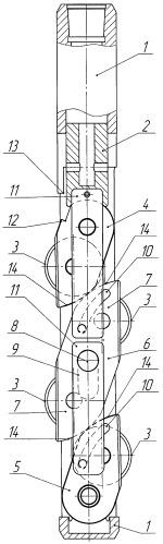 Режущий узел щелевого перфоратора (варианты)