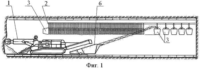 Способ транспортировки горной массы из проходческого забоя