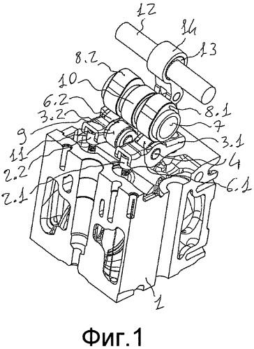 Устройство для приведения в действие декомпрессионного моторного тормоза в двигателе внутреннего сгорания, снабженном гидравлическими толкателями
