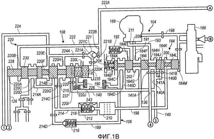 Гидравлическая система управления для автоматической коробки передач, имеющая подсистему управления гидротрансформатором с тремя путями передачи