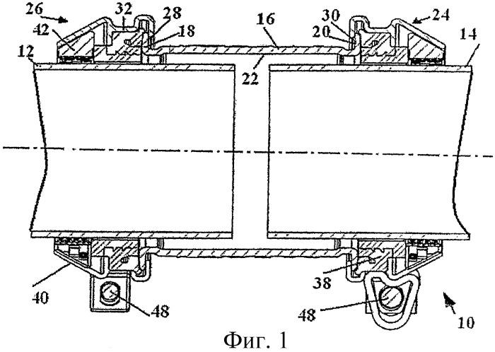 Усовершенствованная трубная муфта со встроенным захватом