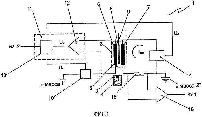 Способ и измерительное устройство для определения положения и/или изменения положения объекта измерения относительно чувствительного элемента