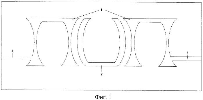 Полосовой сверхвысокочастотный фильтр