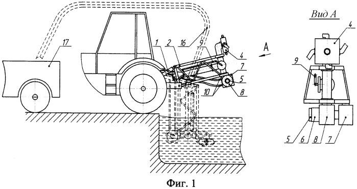 Устройство для создания однородной массы навоза в лагуне