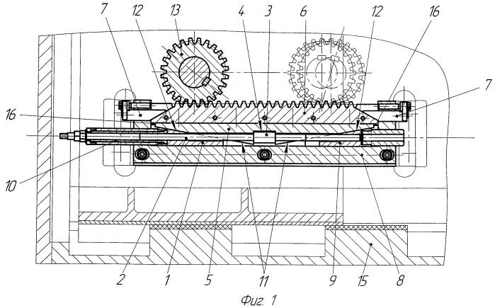 Устройство для поперечного перемещения реек зубчато-реечного привода валков рабочей клети стана холодной прокатки труб