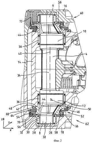 Устройство тормозного суппорта тормоза рельсового транспортного средства