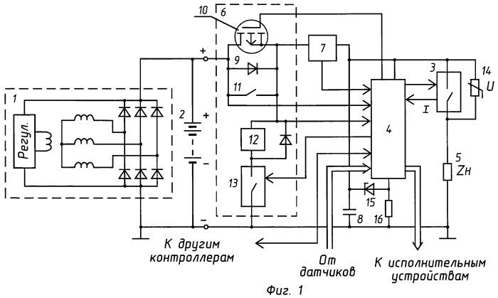 Силовая часть контроллера подъемной или транспортной машины