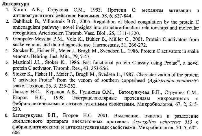 Штамм aspergillus ochraceus - продуцент протеиназы - активатора протеина с плазмы крови человека